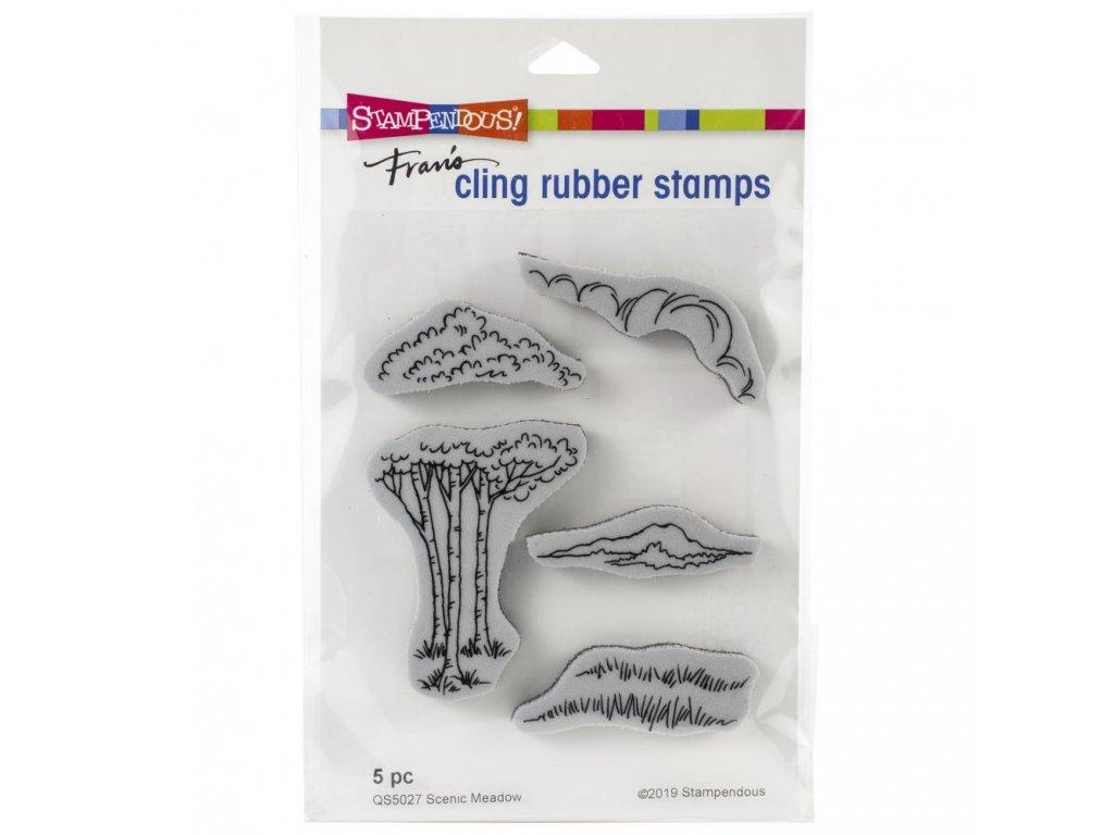 Stampendous - SCENIC MEADOW SET - cling razítka