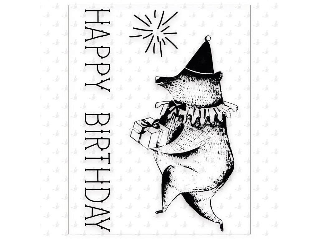 Happy Birthday clear stamps watermark