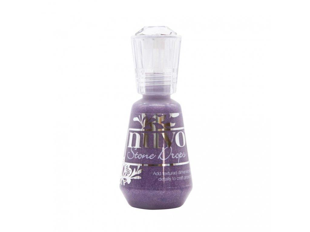 Nuvo - STONE DROPS / PLUM SLATE - tekuté enamelky
