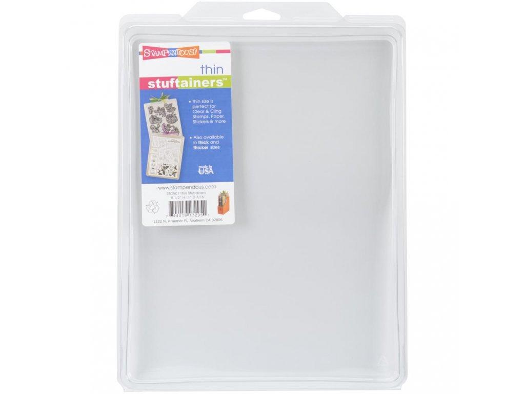 "Stampendous - THICKER STUFTAINERS 7/16"" / 22 x 28,4 x 1 cm - plastový box na silikonová a cling razítka"
