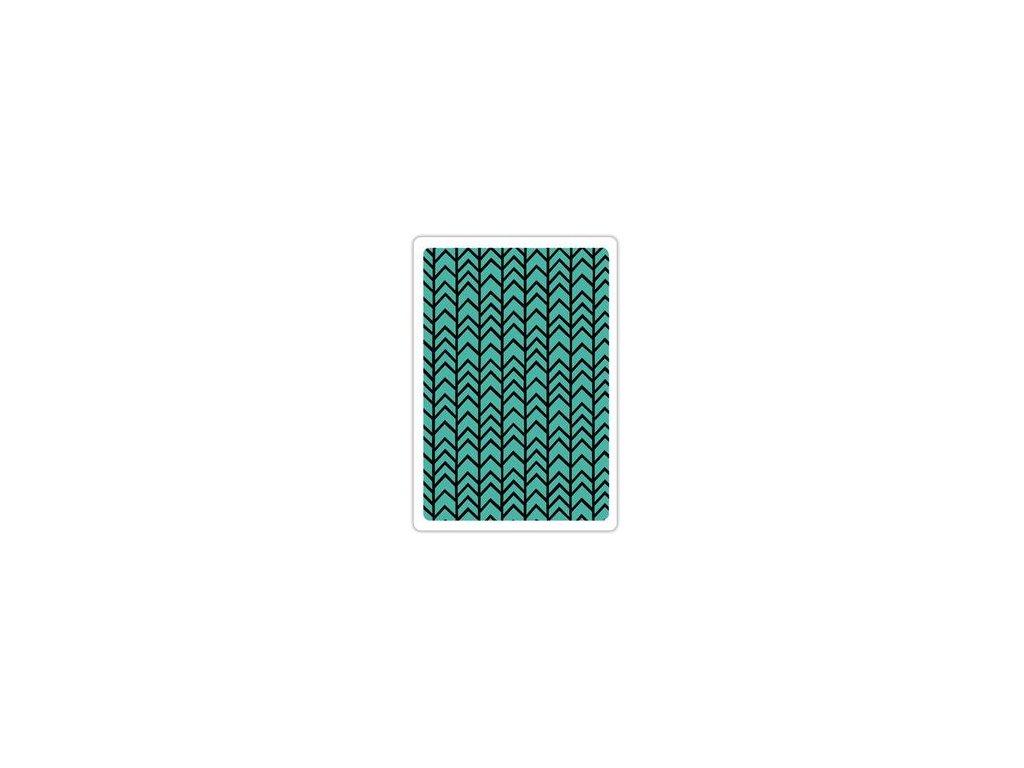 Sizzix - CARFT ASYLUM / CHEVRON - embossovací kapsa