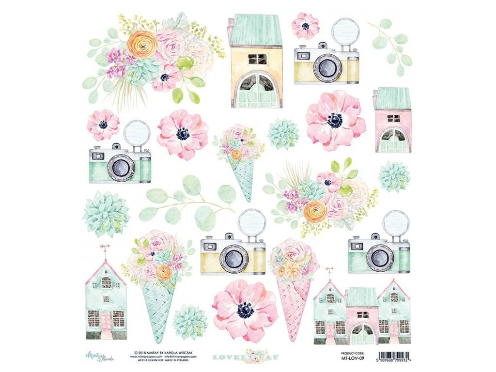 scrapbooking paper mintay papers lovely day 09