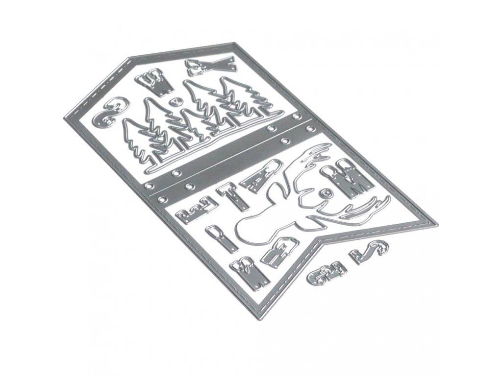 Elizabeth craft designs - PLANNER A5 / 1674 / XMAS WINTER - vyřezávací kovová šablona