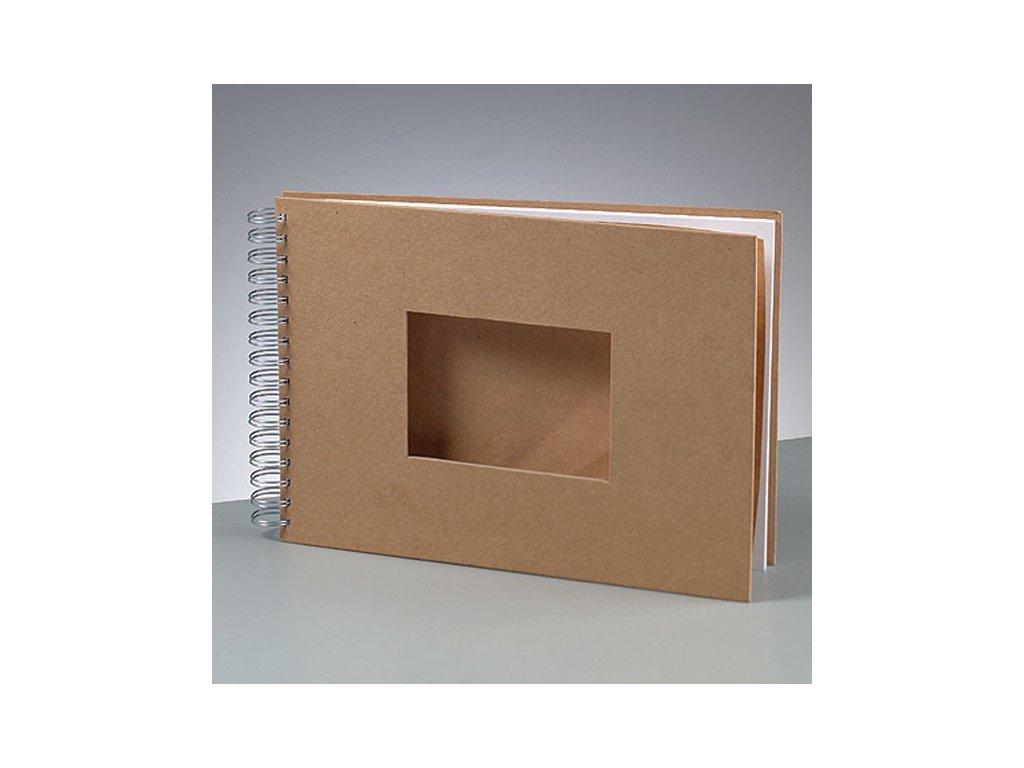 Efco - kartonové album A4 pro scrapboo s výřezemk; 25 bílých listů
