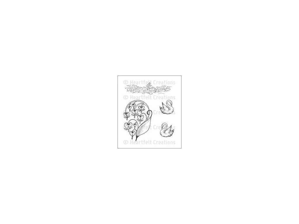 Heartfelt Creations - ROMANTIQUE SWANS - cling gumová razítka