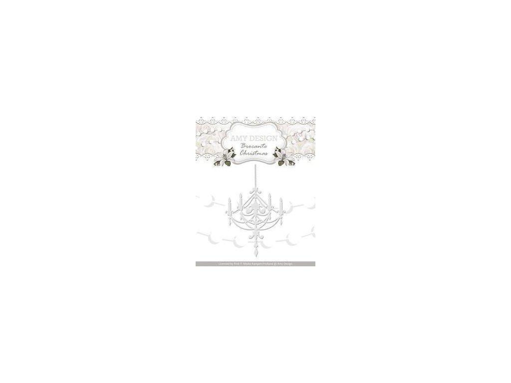 Amy Design - Brocante Christmas - Chandelier - vyřezávací šablona pro Big Shot