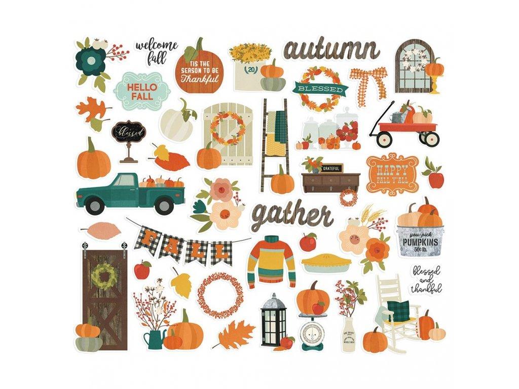 Simple Stories - FALL FARMHOUSE - podzimní papírové obrázky