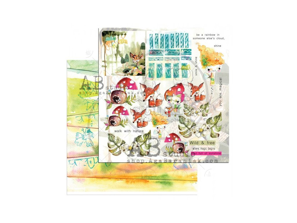 scrapbooking paper magic whispers of fairytales sheet 6 30x30