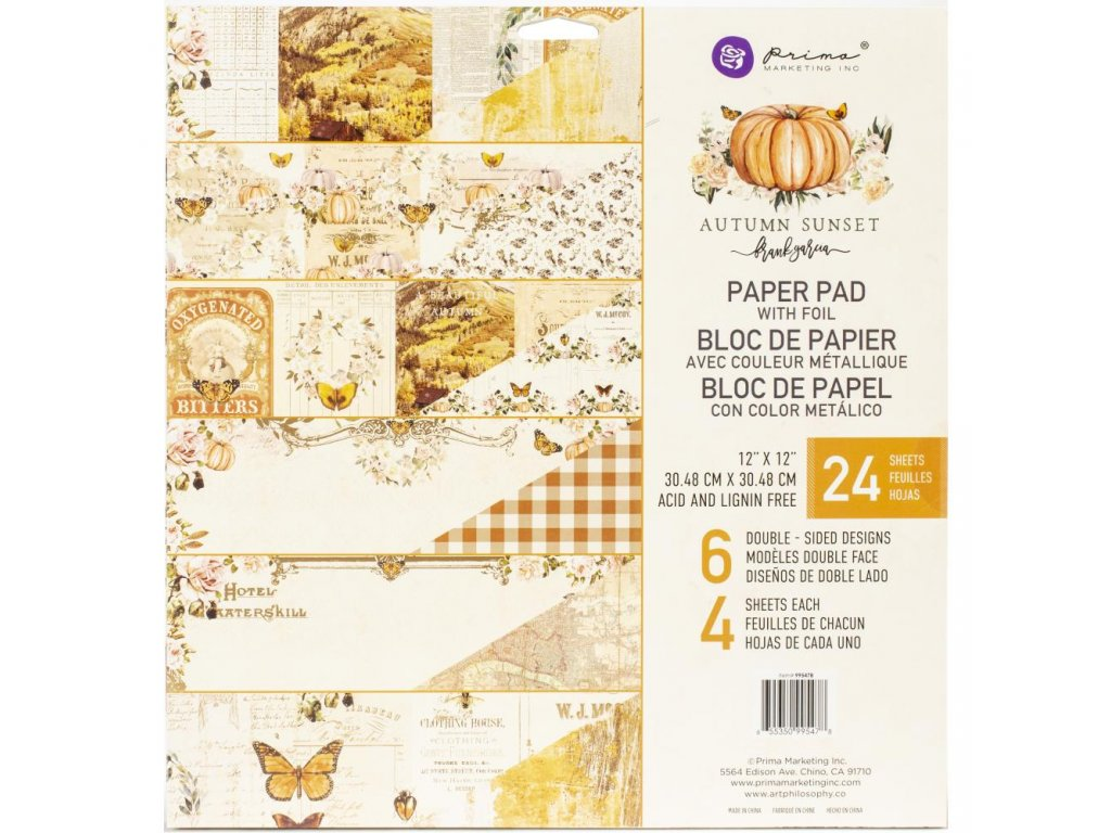 "Prima Marketing - AUTUMN SUNSET- 12"" scrapbooková sada čtvrtek"