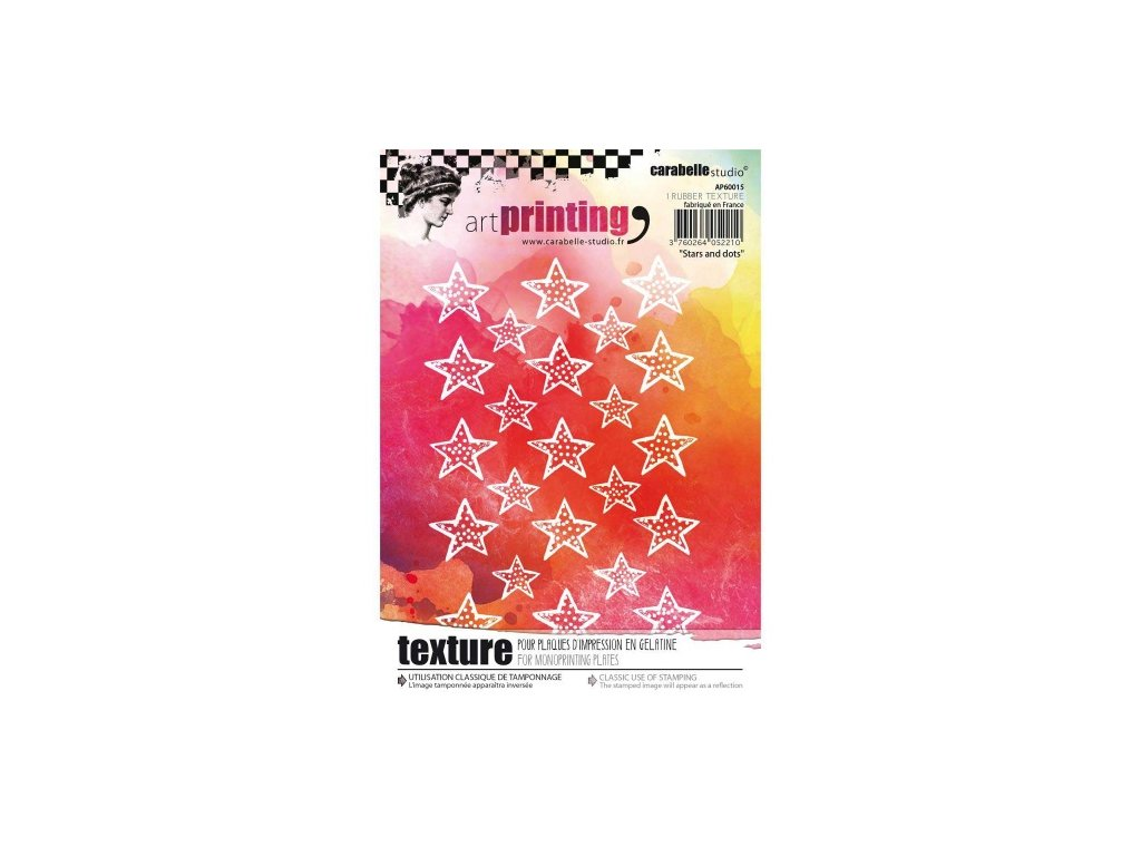 Carabelle Studio Rubber Texture Stamp Stars and Dots
