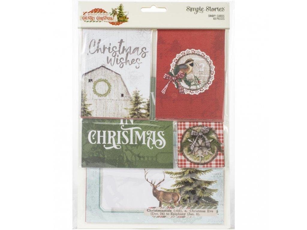 Simple Stories - COUNTRY CHRISMATS -  sada vánočních kartiček