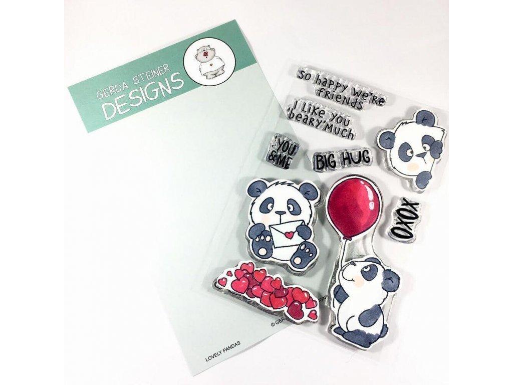 Lovely Pandas Gerda Steiner Designs Clear Stamps GSD663 image1 17816.1548459572.1280.1280