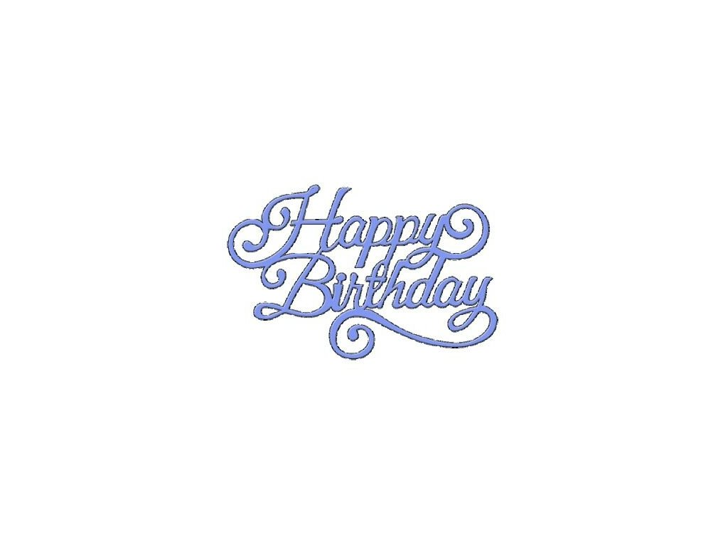 Sweet Dixie Happy Birthday Intricate Designs Die SDD091