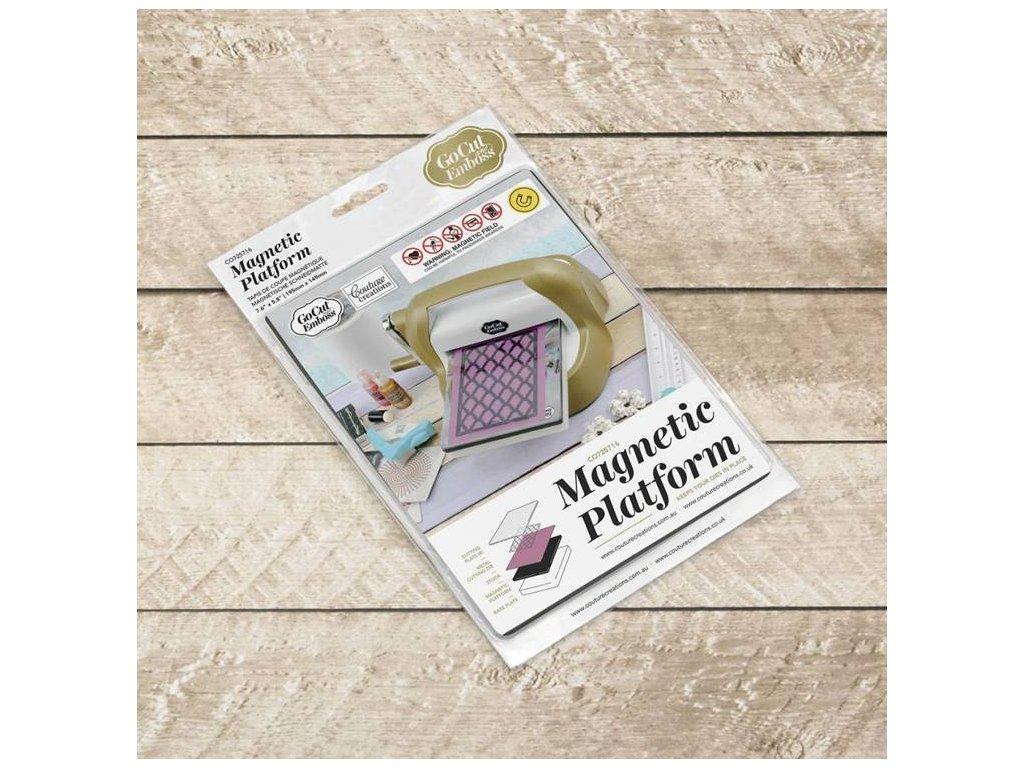 Couture Creations - GO CUT & EMBOSS / MAGNETIC PLATFORM - magnetická deska do strojků GO CUT