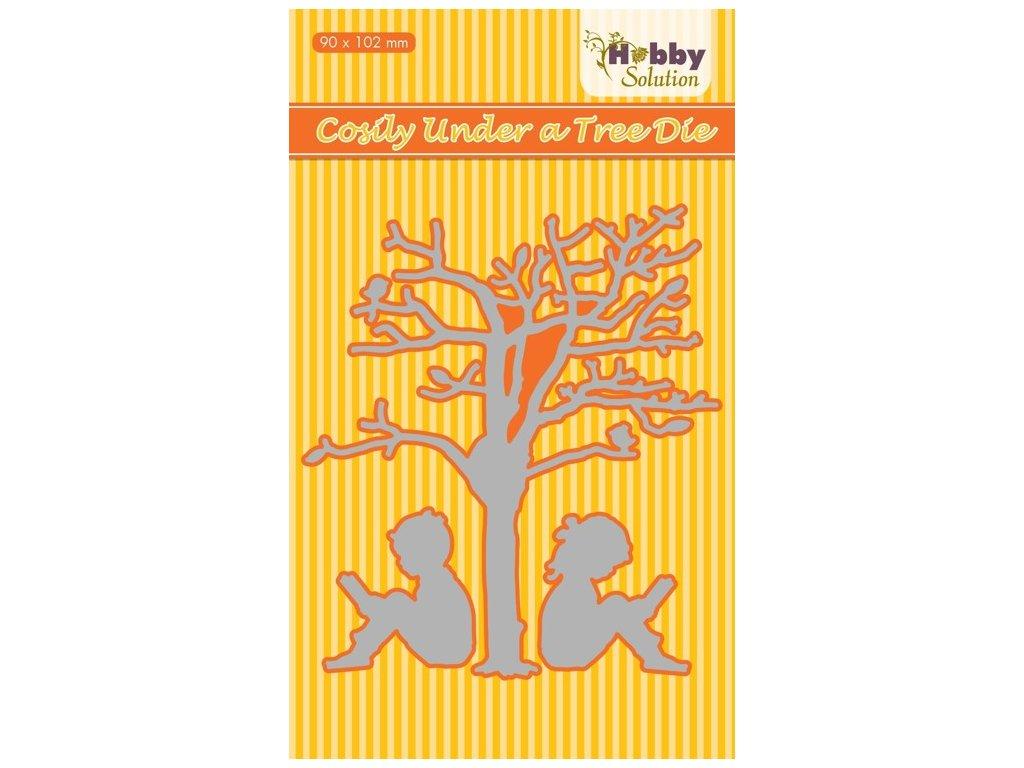 Hobby Solution - TREE / strom + děti - vyřezávací kovová šablona