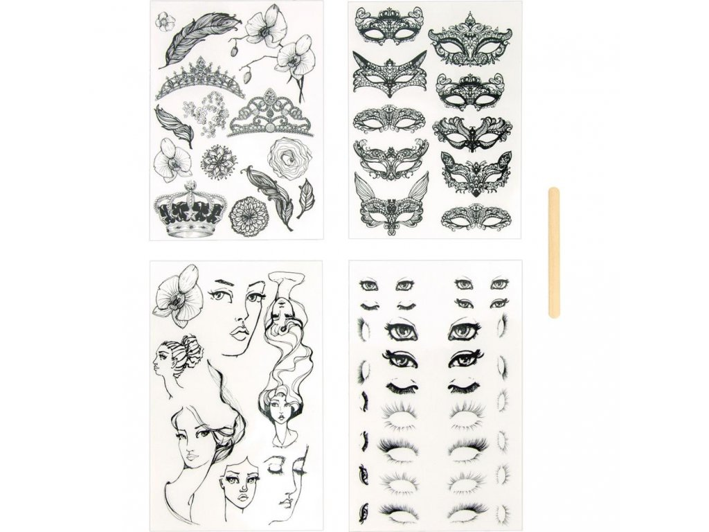 Jane Davenport - Rub-On Transfer Sheets-Various Designs - Rub-Ons / propisoty pro scrapbook