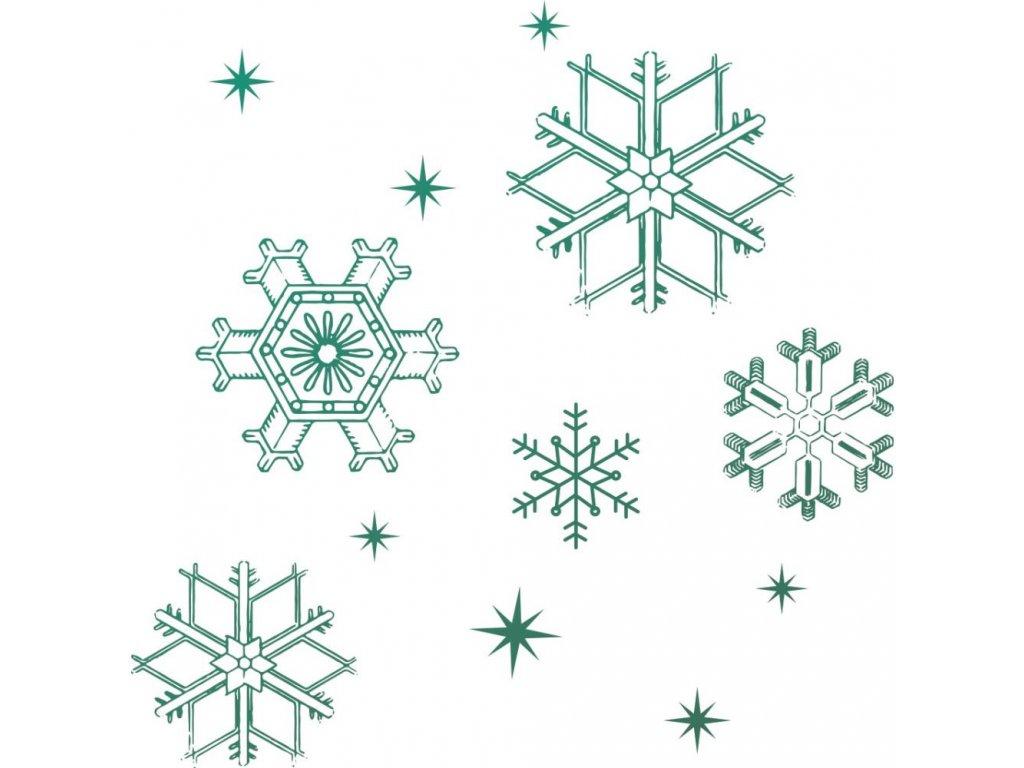 Couture Creations - SNOWFLAKES / vločky - silikonové razítko