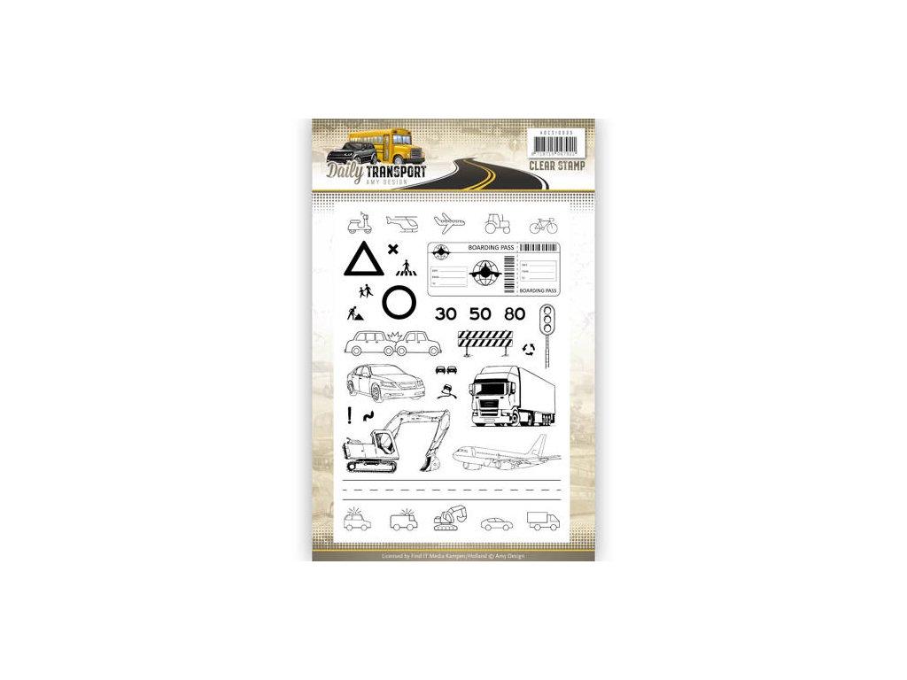 Amy Design - Daily Transport - silikonová razítka