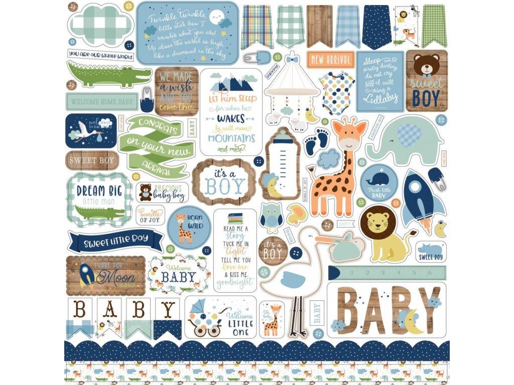 Echo Park - BABY BOY - dětské samolepky