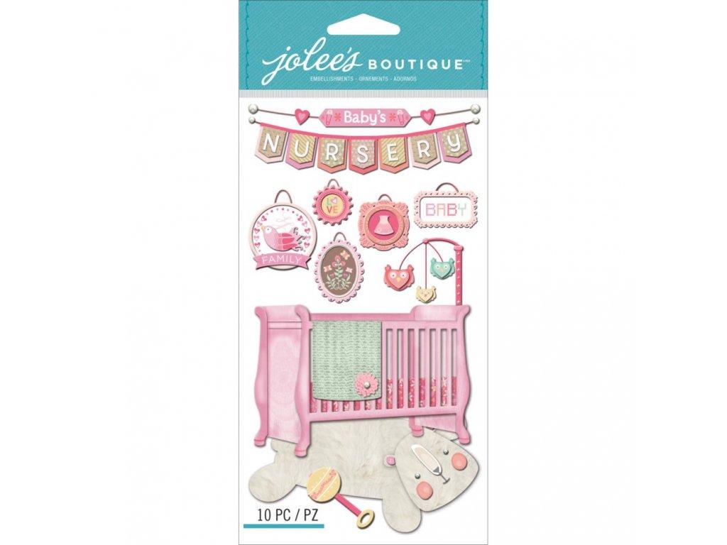 Jolees Boutique - BABY GIRL NURSERY - dětské samolepky