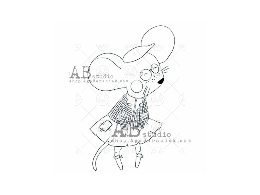 rubber stamp little mouse id 667