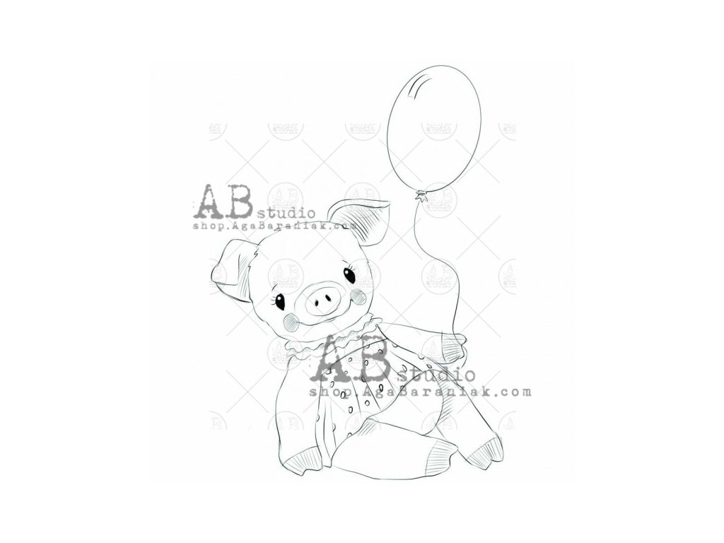 rubber stamp piggy id 652