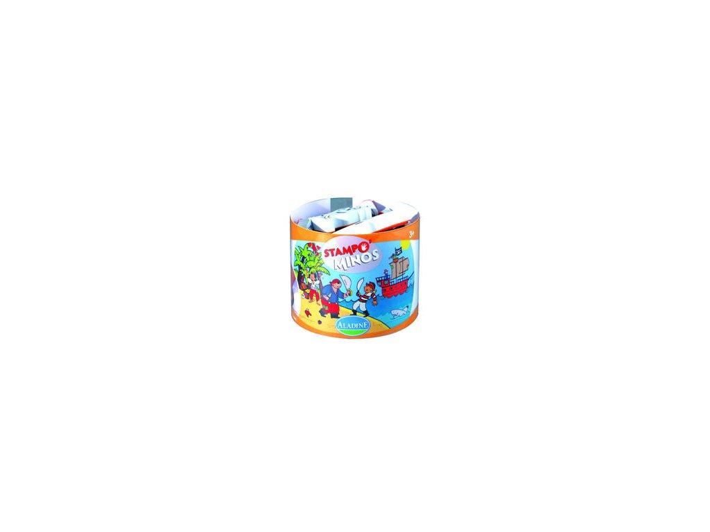 Aladine - tampominos / Piráti - razítka pro děti od 3 let