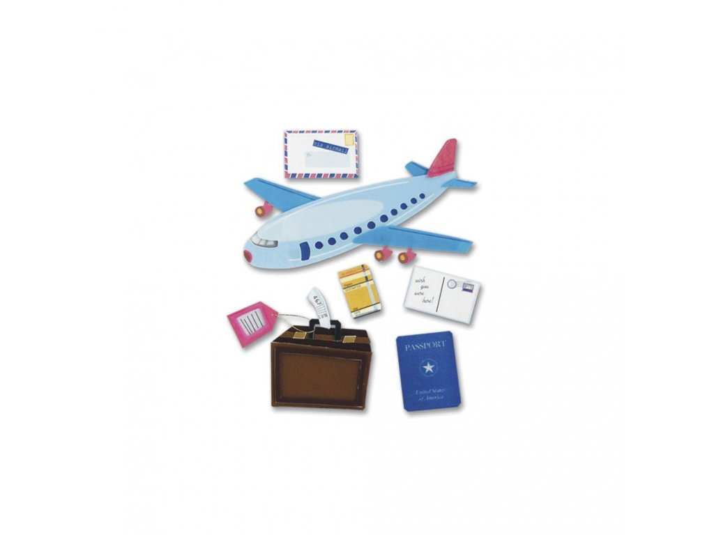 Jolees Boutique - AIRPLANE TRAVEL - cestovní samolepky