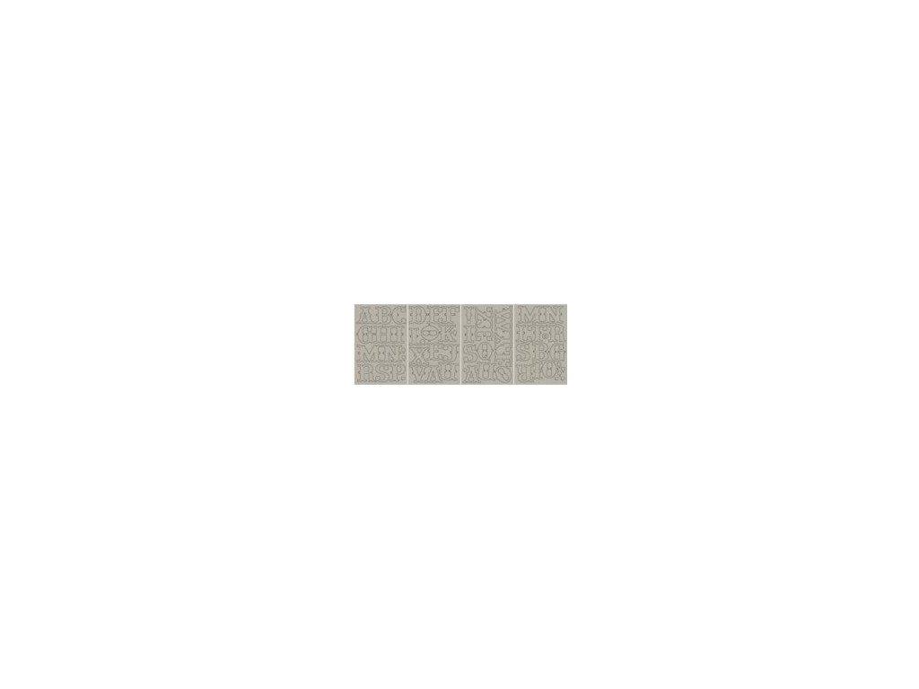 Basic Grey - BON BON - abeceda chipboard / kartonová samolepící písmenka