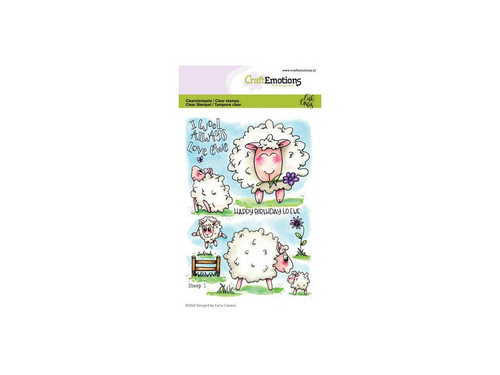 craftemotions clearstamps a6 sheep 1 carla creaties 01 20 315452 en G