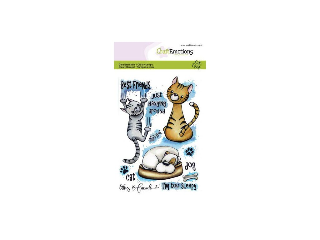 craftemotions clearstamps a6 odey friends 2 carla creaties 0 312879 en G