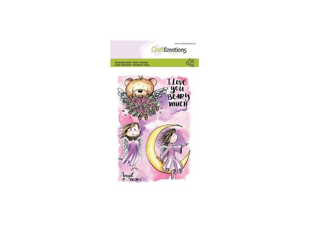 craftemotions clearstamps a6 angel bear 2 carla creaties 313082 en G