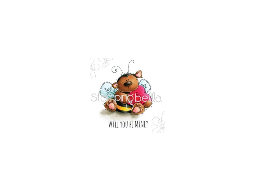 stamping bella cling stamp bee mine eb461