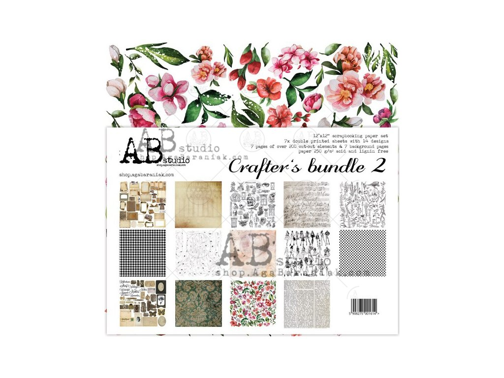 crafters bundle 2 scrapbooking paper set 7x 12 x12