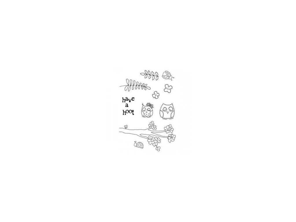 polkadoodles clear stamp set shabby owl