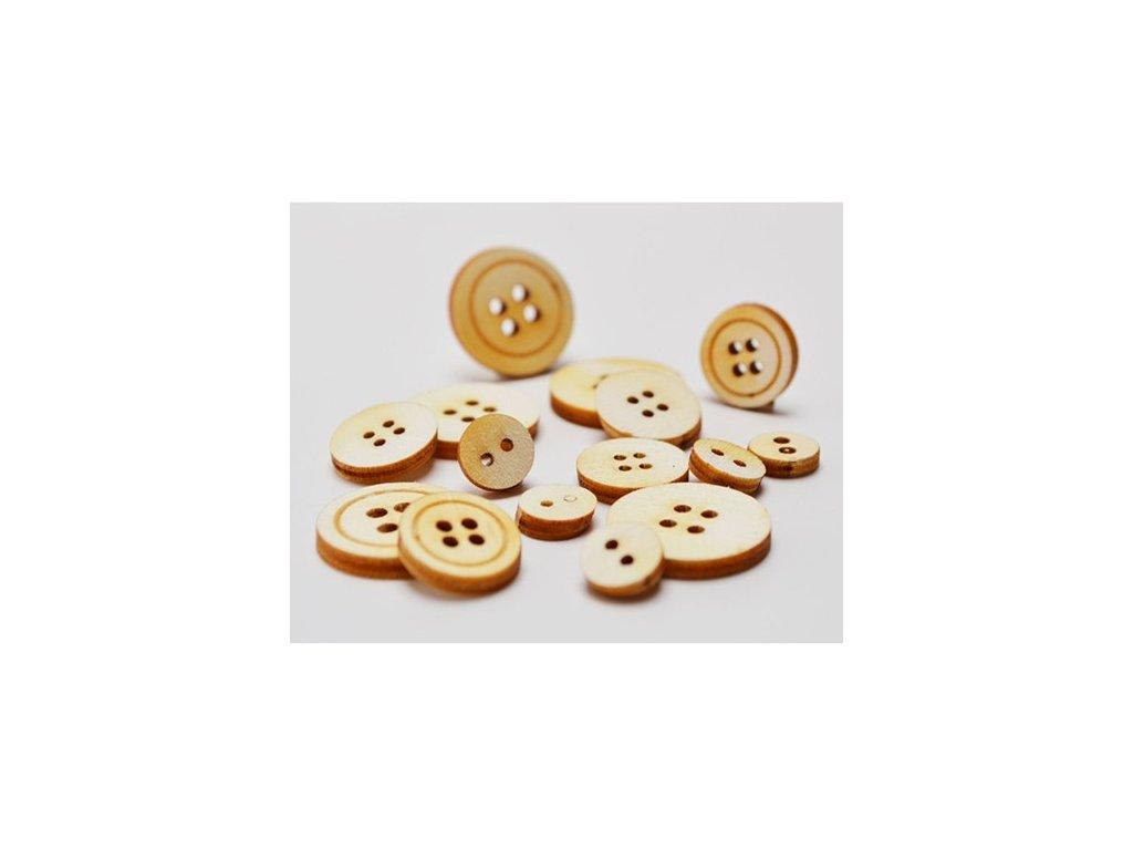 Optys - dřevěné knoflíčky, 3g - dřevěné ozdoby