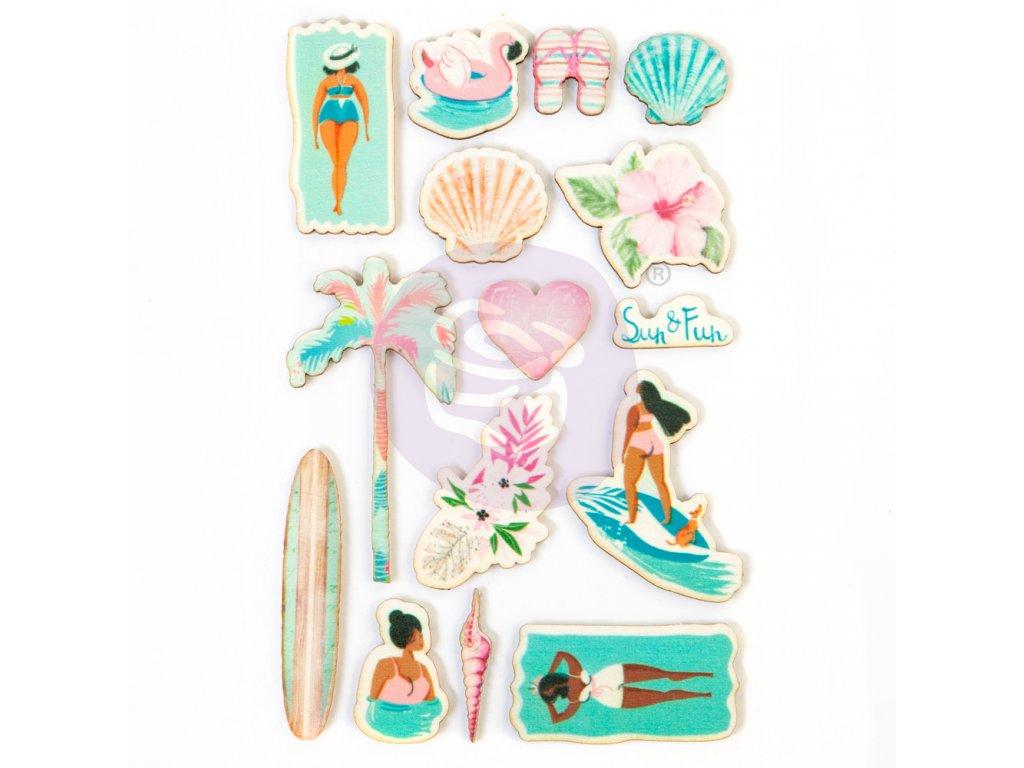 prima marketing surfboard wood stickers 645267