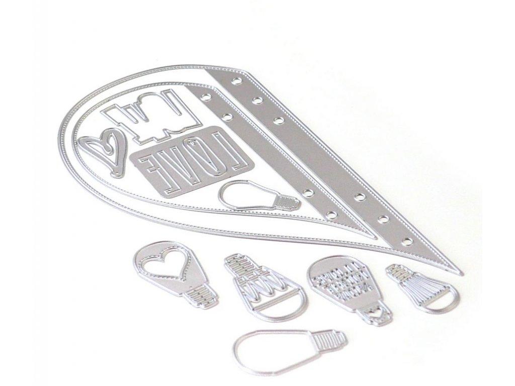Elizabeth craft designs - PLANNER A5 / 1738 / ESSENTIALS 20 - vyřezávací kovová šablona