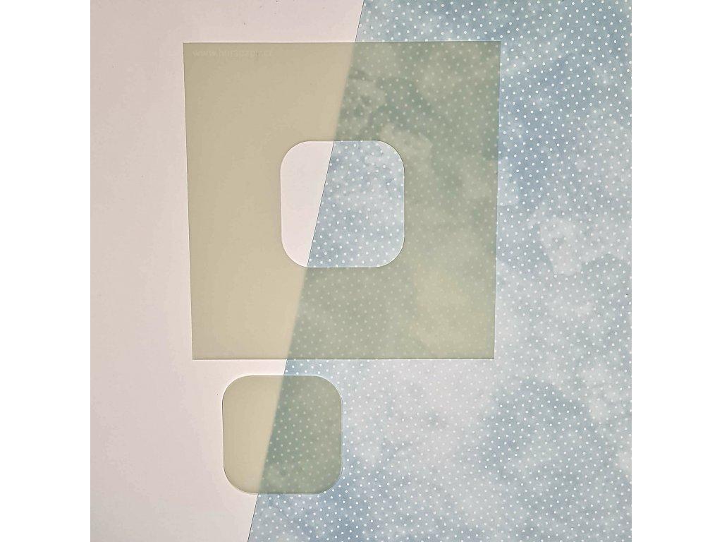 Hurá Papír - ČTVEREC / zaoblené rohy - maska, šablona
