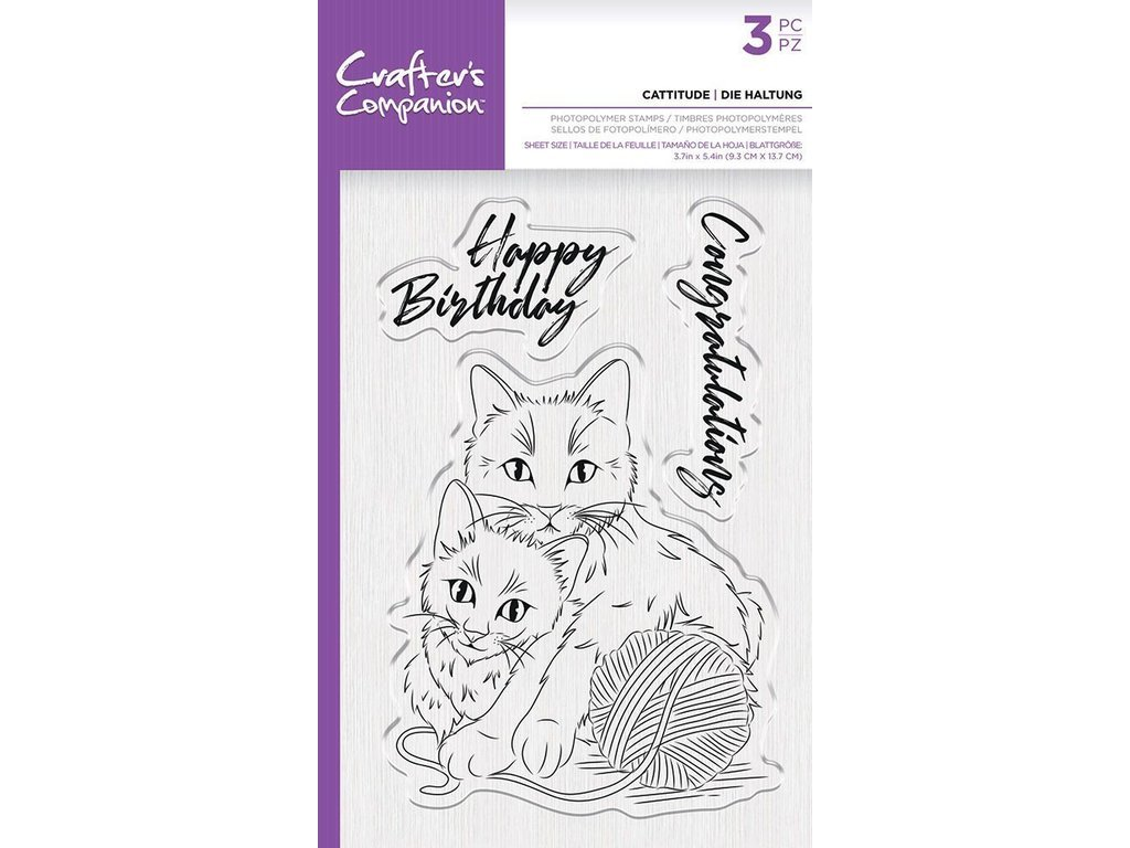 Crafters Companion Clear Stamp Cattitude