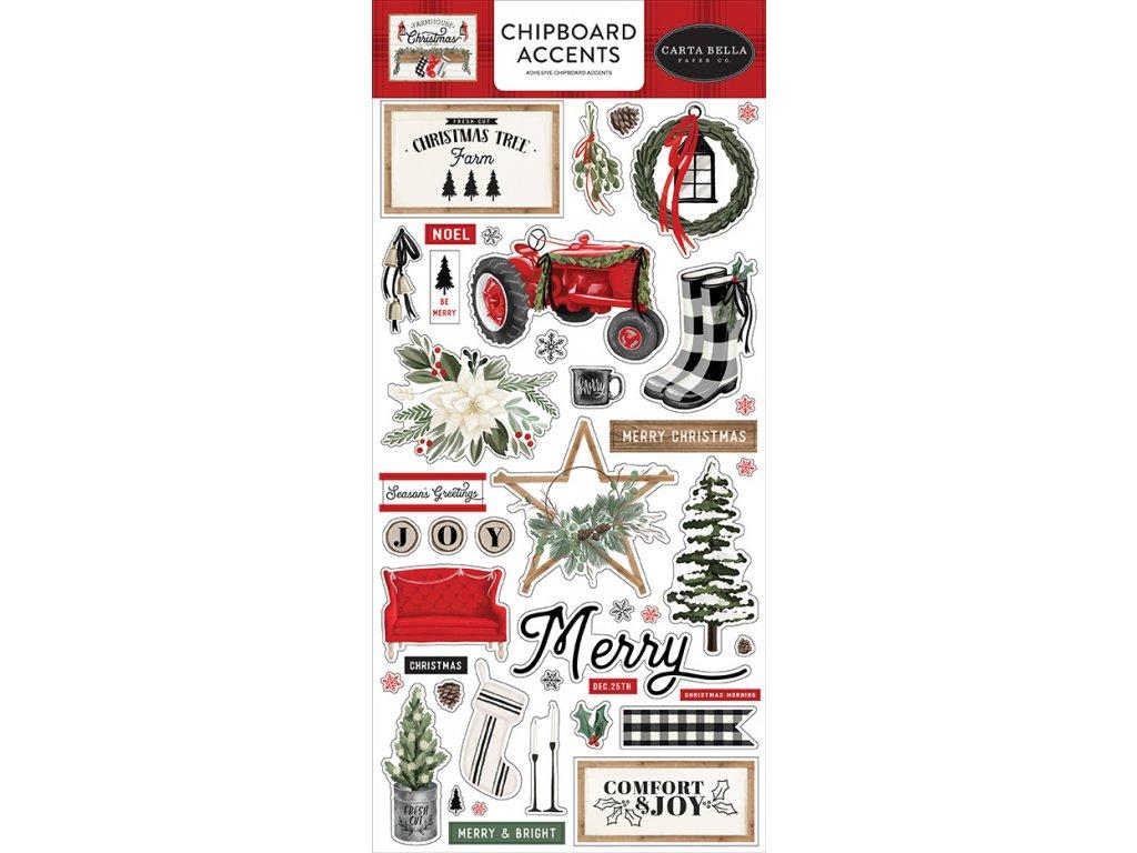 carta bella farmhouse christmas 6x13 inch chipboar