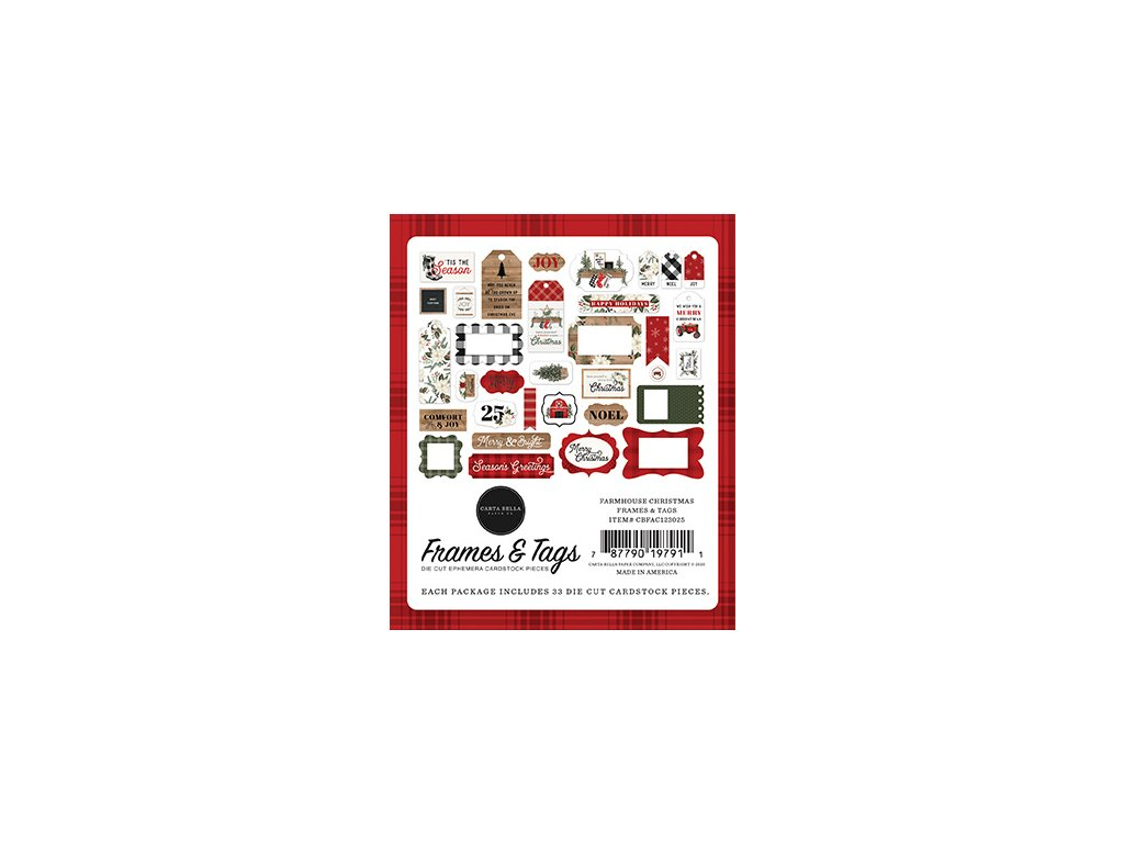 carta bella farmhouse christmas frames tags cbfac1