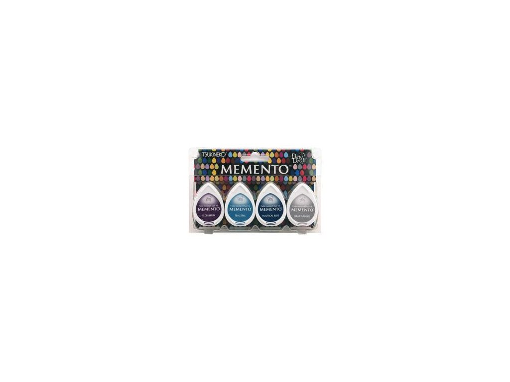 Memento - DOLPHIN PLAY - razítkovací barva, 4 ks