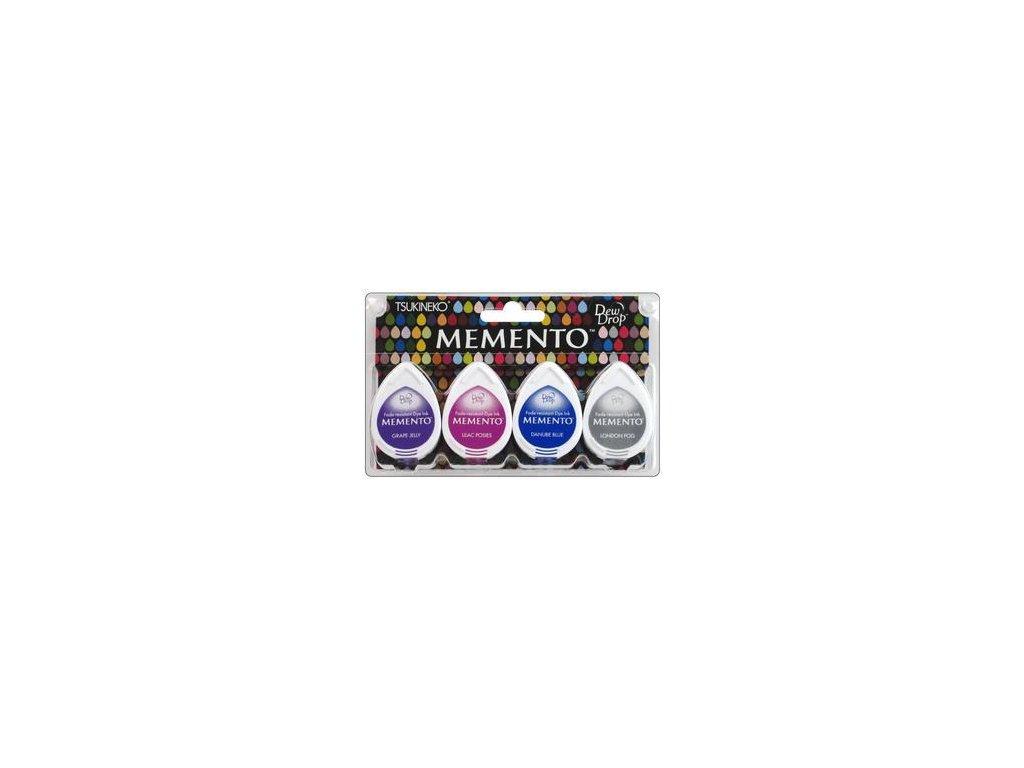 Memento - RAINY DAZE - razítkovací barva, 4 ks