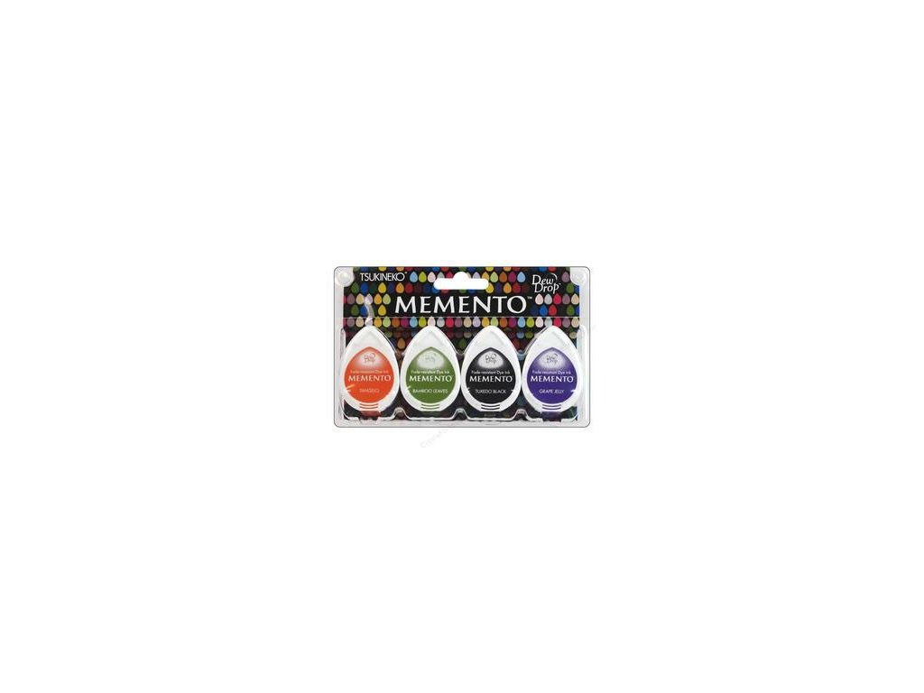 Memento - JELLY BEANS - razítkovací barva, 4 ks