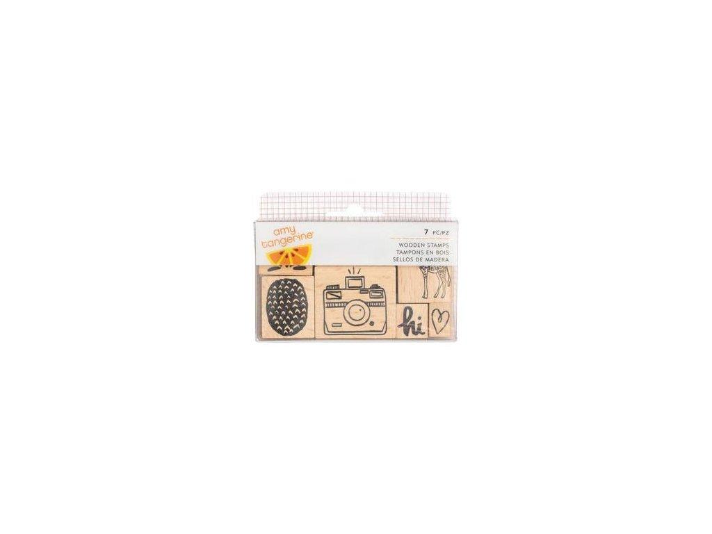 Amy Tangerine - Finders Keepers  - dřevěná gumová razítka