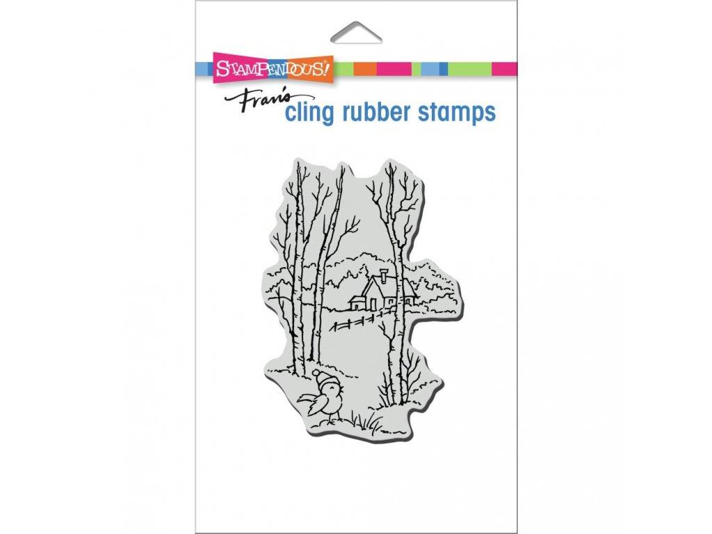 Stampendous - BIRCH BIRDIE - cling gumové razítko