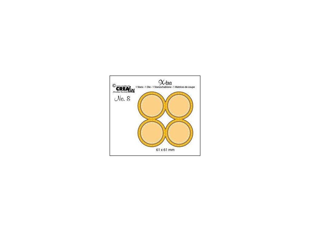 Crealies - 8 / X-TRA / kolečka - vyřezávací šablony pro Big Shot