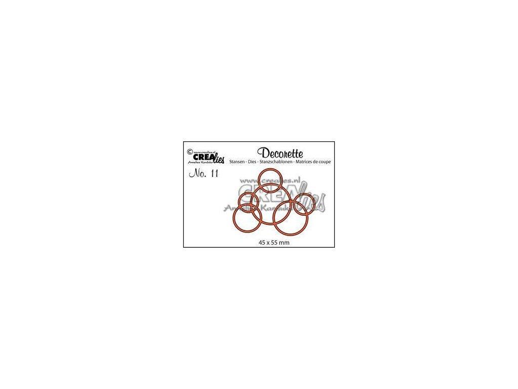 Crealies - 11 / DECORETTE / kruhy - vyřezávací šablony pro Big Shot