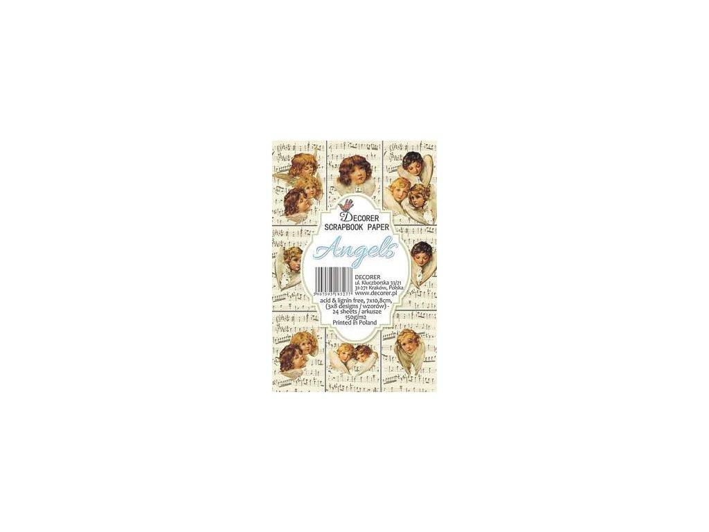 decorer angels paper pack 7x108cm m31